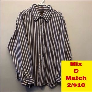 "St John's Bay Button Down Shirt Neck 18"" XL"